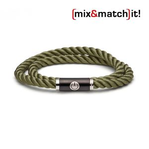 (mix&match)it! Armband, Seide, olive Bild 1