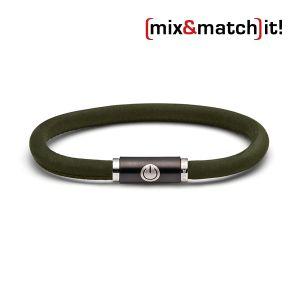 (mix&match)it! Armband, Leder, dunkelgrün Bild 1